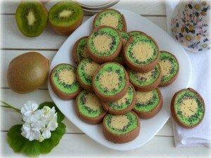 вкусное домашнее печенье киви